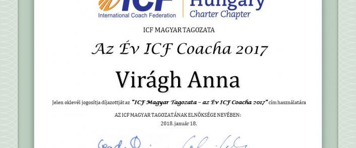 Az Év ICF Coacha 2017